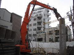 品川区 銭湯の煙突解体