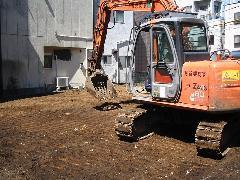 品川区 銭湯・お風呂屋 解体工事後の整地工事
