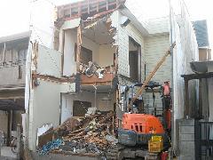 朝霞市 アパートの取り壊し工事