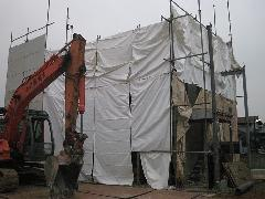 練馬区 3階建て住宅の手壊し解体