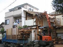 東京都中野区 家の取り壊し工事