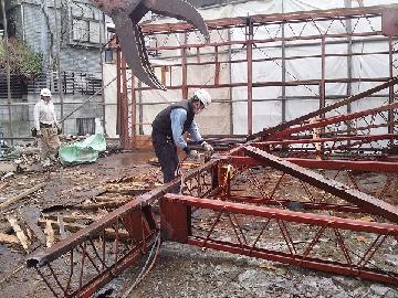 鉄骨造建造物の解体