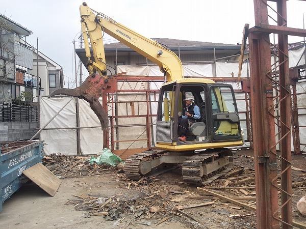 戸建て住宅の解体工事