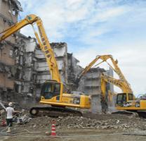 雇用促進住宅解体工事