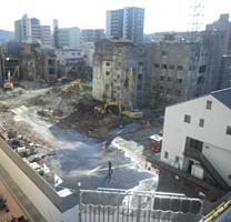 三田駅前開発工事