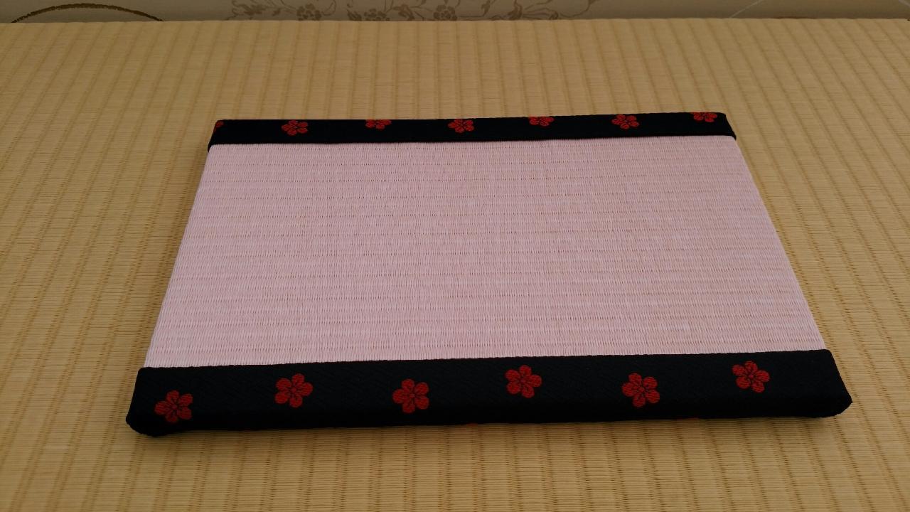 縁 梅(黒) 和紙表(薄桜色)