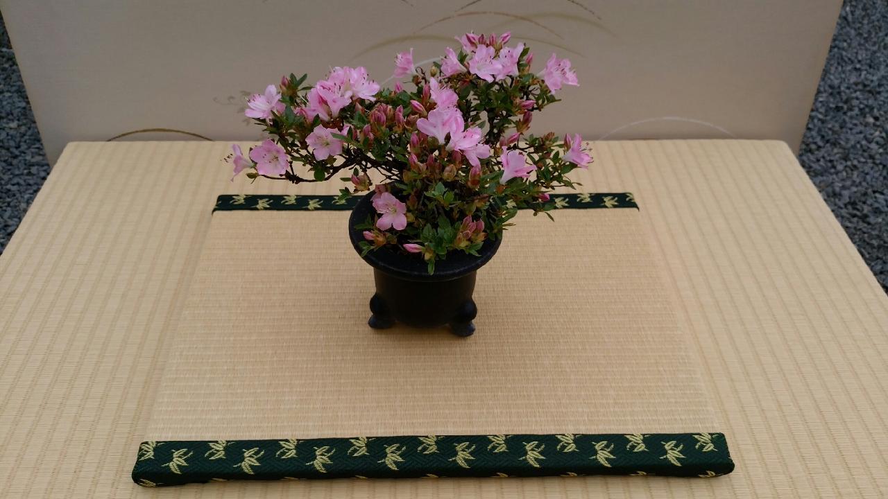 縁 地紋(竹) 和紙表(小金白色) 長型