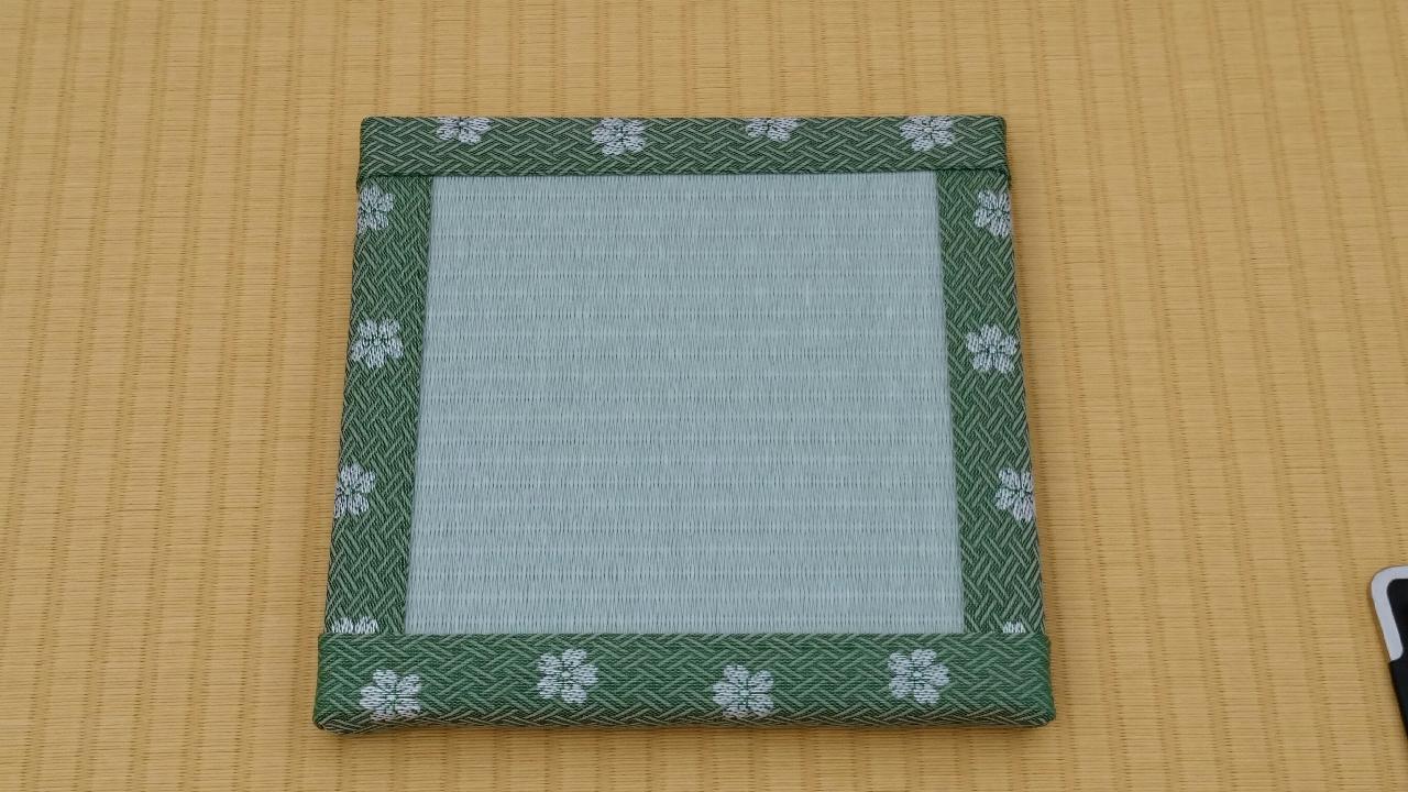縁 花香(緑) 和紙表(青磁色)