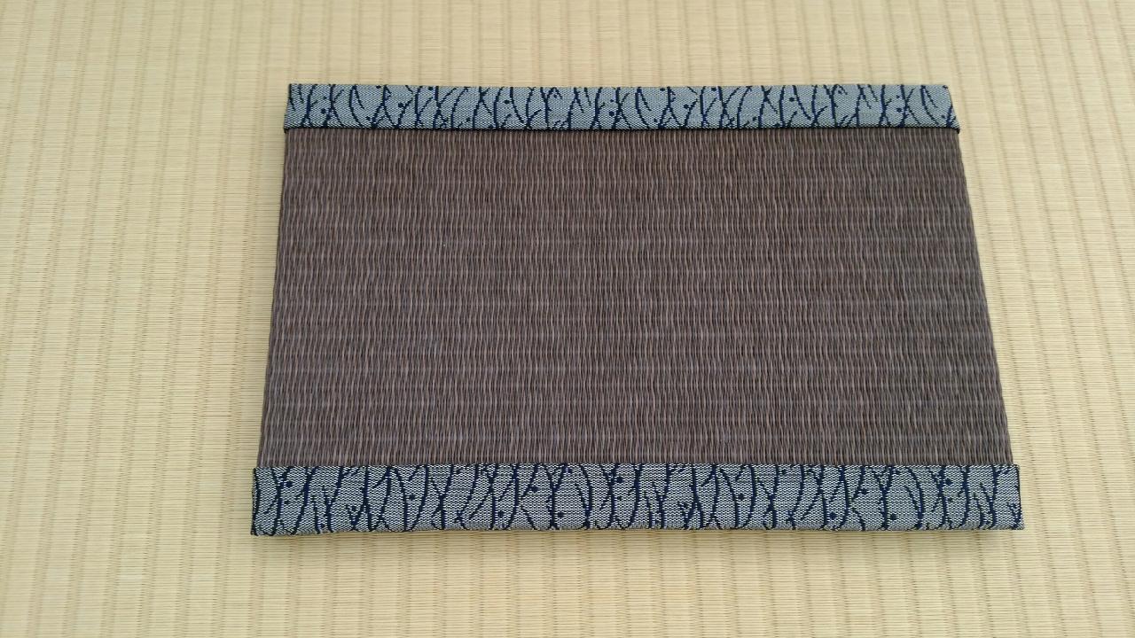 縁 アラベスク(松) 和紙表(栗色)