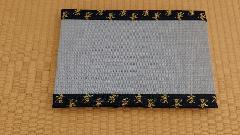 縁 地紋(竹) 和紙表(青磁色)