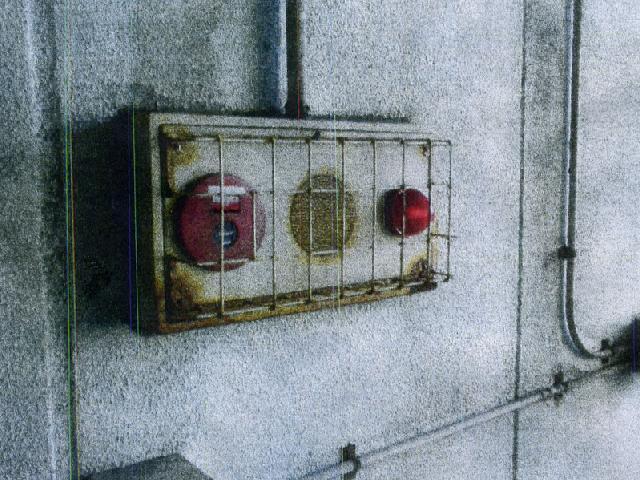 自動火災報知設備発信機総合盤交換前