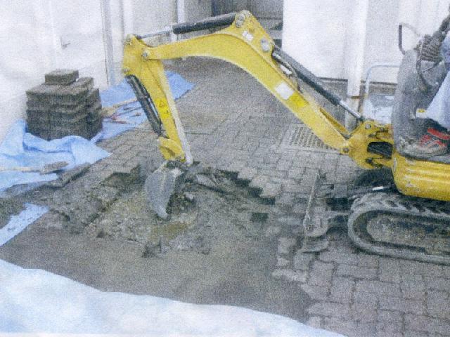 給配水設備配管工事中