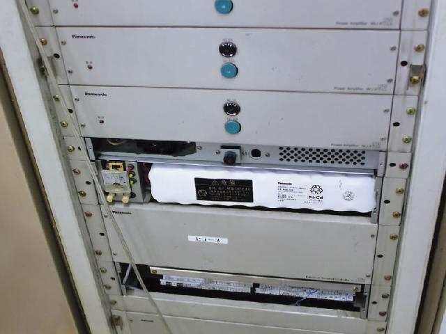 非常放送設備アンプバッテリー交換後