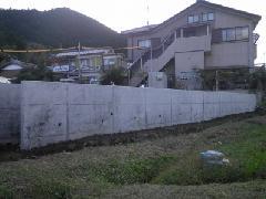 【京都府  亀岡市】F邸擁壁工事