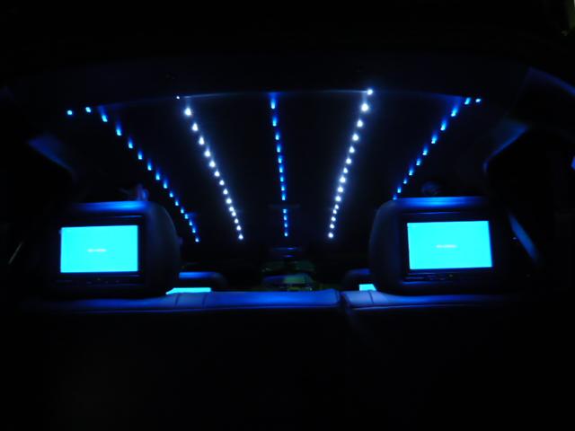 フィット 天井張替 LED埋め込み 流星仕様
