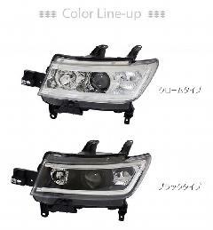 QNC bB LEDライトバープロジェクターヘッドライト 純正ハロゲン車用