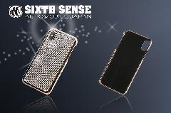 iphoneX アイフォンケース キラキラストーン シルバー&ゴールド