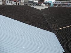 大阪市平野区1丁目。八尾様 屋根工事スレート小波