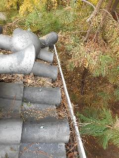 大阪城修道館 雨どい掃除