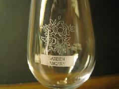 エッチングワイングラス