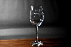 ワンポイント加工のワイングラス【大】(1個〜9個)