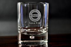 ワンポイント加工のロックグラス【デュロボー】(10個〜29個)