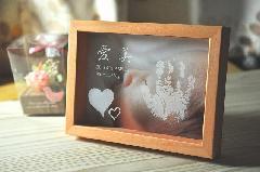 ぺったんこ PHOTO BOX 【パステルオレンジ】