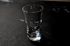 ワンポイント加工のひとくちビールグラス(5〜10個)