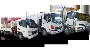 産業廃棄物の収集車