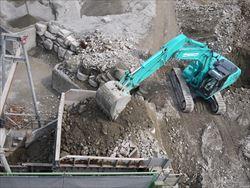 再生砕石の製造工程