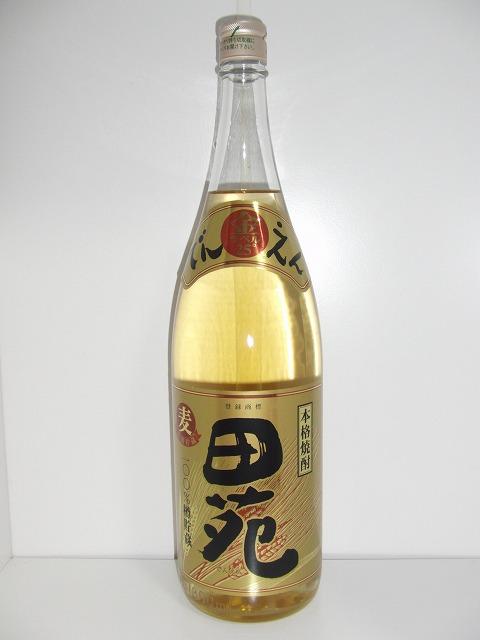 田苑 金ラベル 麦焼酎 25度 1.8L瓶