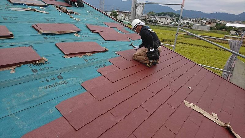 幼稚園の屋根工事