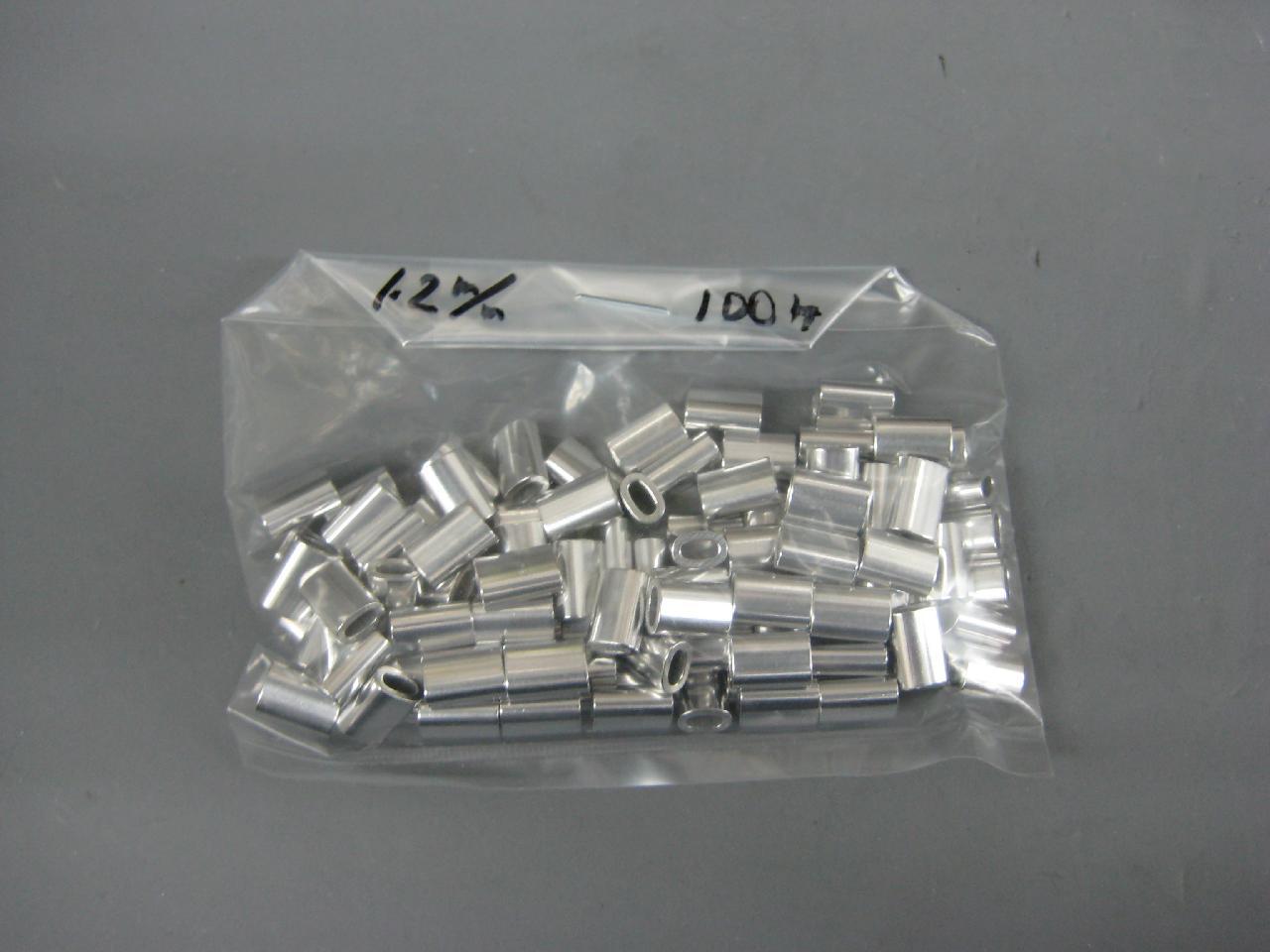 アルミオーバルスリーブ1.2mm(100個入り)