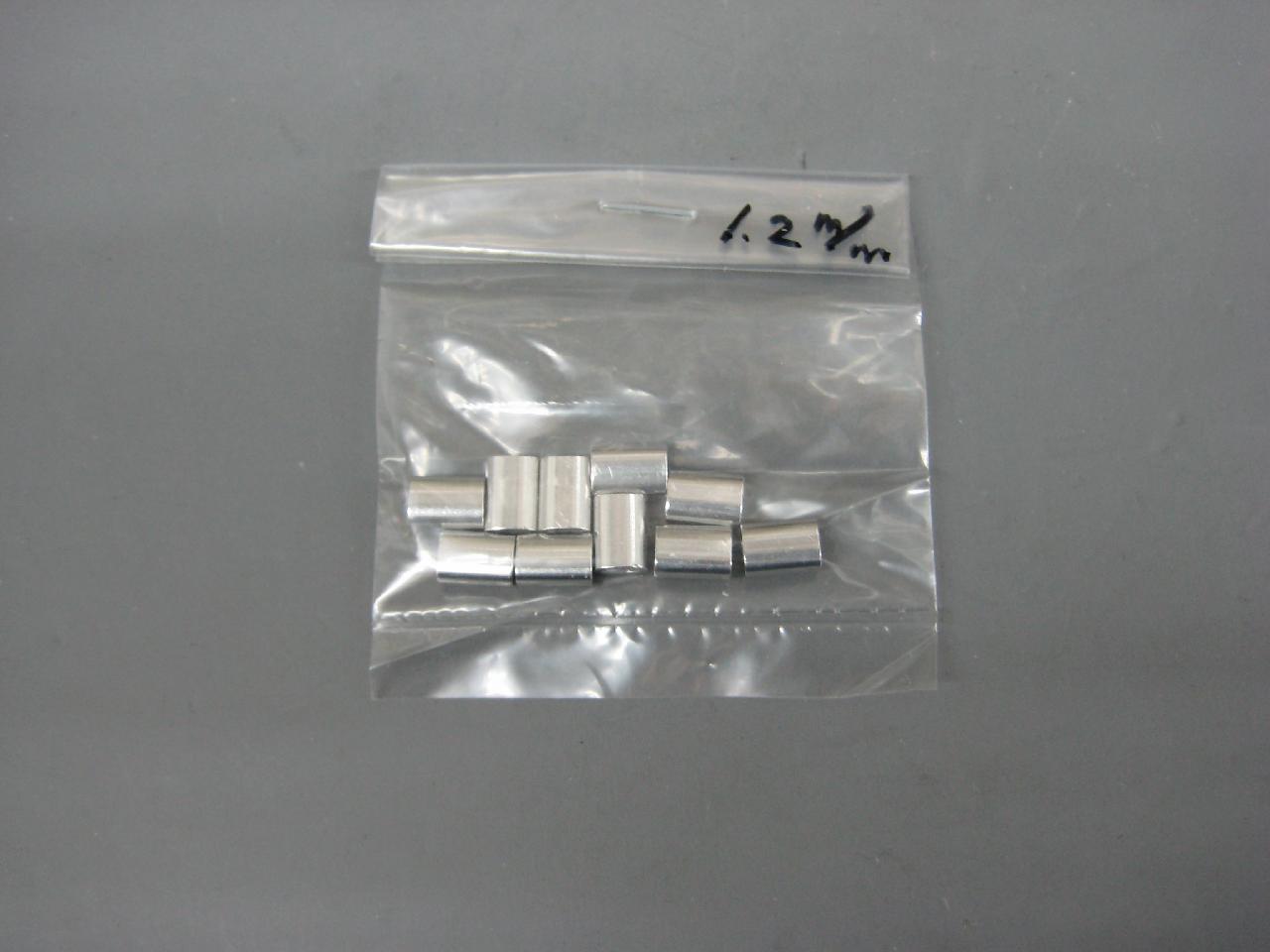 アルミオーバルスリーブ1.2mm(10個入り)