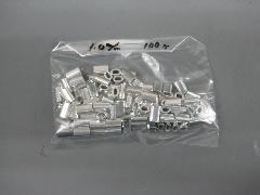 アルミオーバルスリーブ1.0mm(100個入り)