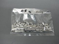アルミオーバルスリーブ0.45mm(100個入り)