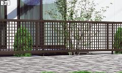 「エクモアX」3型(横格子) 三協アルミ フェンス