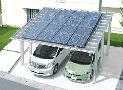「M.シェード」 三協アルミ カーポート(太陽光発電システム上乗せタイプ)