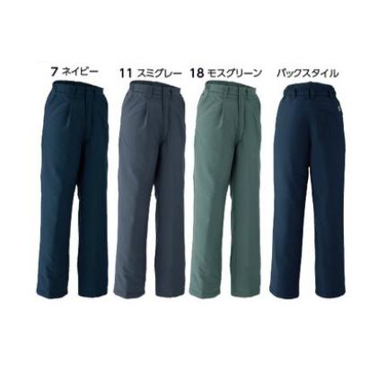 69100 パンツ(ワンタック脇シャーリング) マイクロファイバー