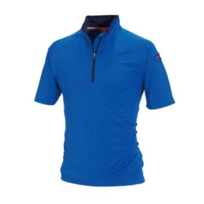 半袖ジップシャツ 415