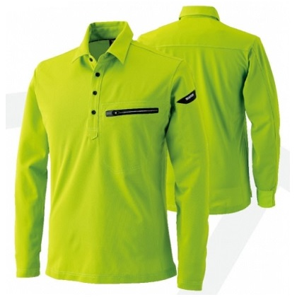 ES ワークニットロングポロシャツ 81305