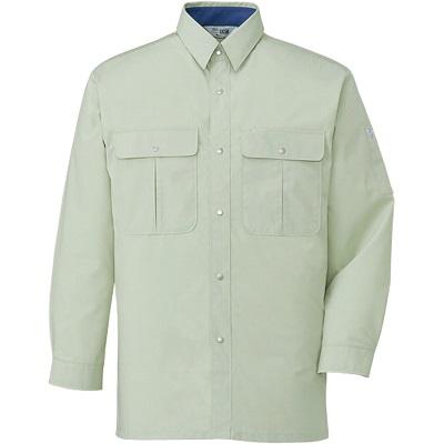 形態安定長袖シャツ 34004