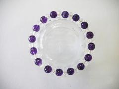 パワーストーン 紫水晶 水晶ソロバンカット