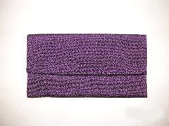 数珠袋 高級ちりめん 紫色