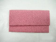 数珠袋 高級ちりめん ピンク色