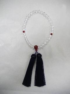 Wカット 赤瑪瑙仕立 人絹 頭房  女性用