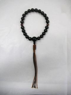 縞黒檀22玉 赤瑪瑙二天 人絹 紐房  男性用