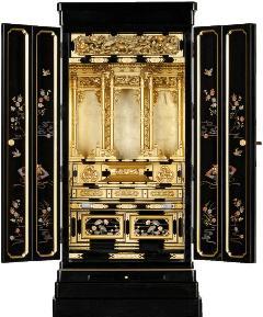 京型別台 『宴』 障子なし 戸裏蒔絵入 西 18×43