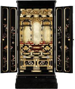 京型別台 『宴』 障子なし 戸裏蒔絵入 東 18×43