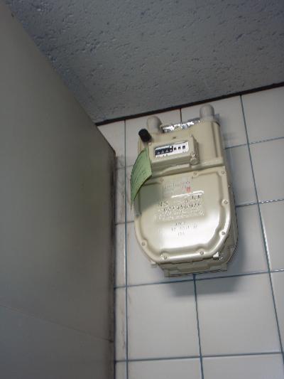 台所天井付近ガスメーター横にラットサイン発見!